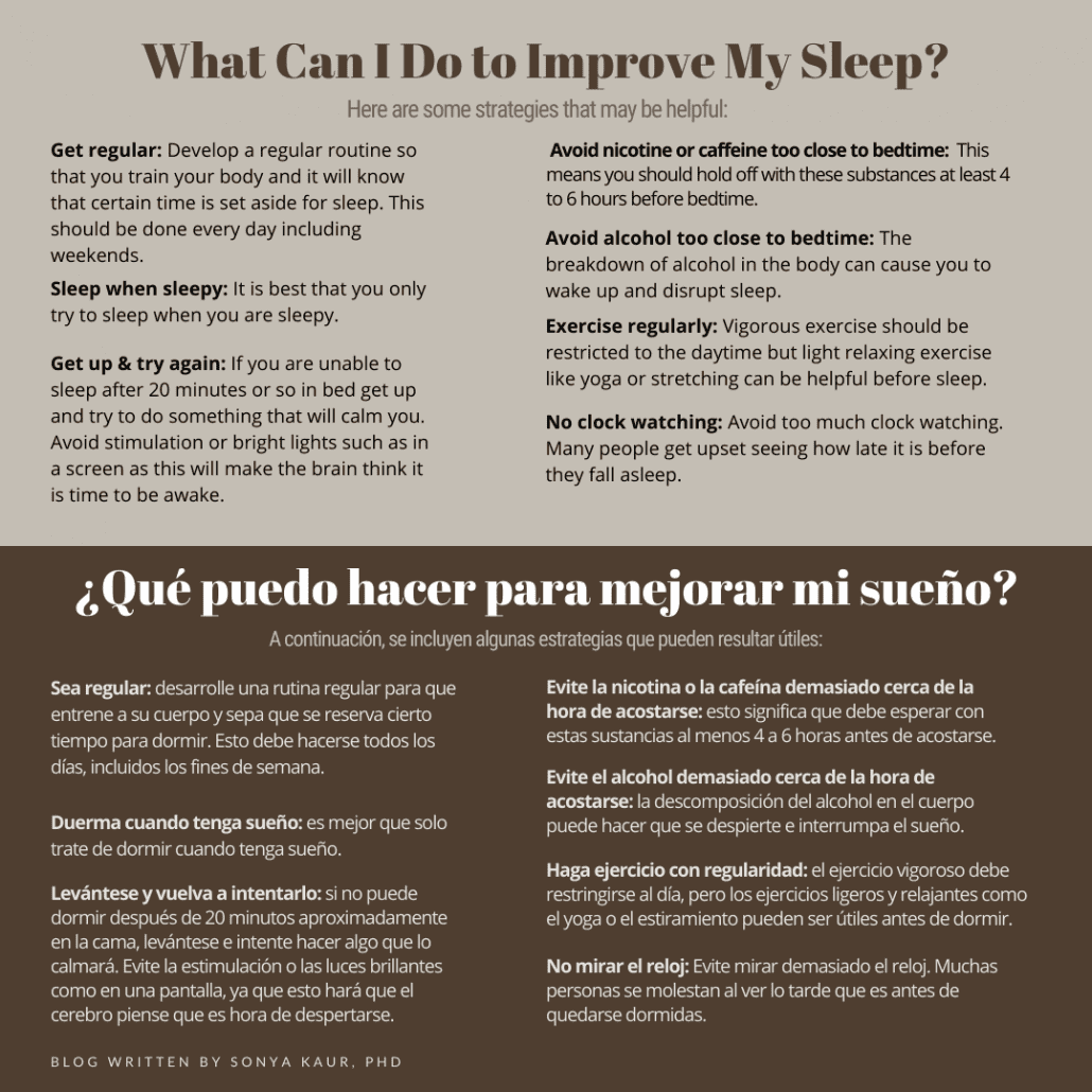 tips on better sleep