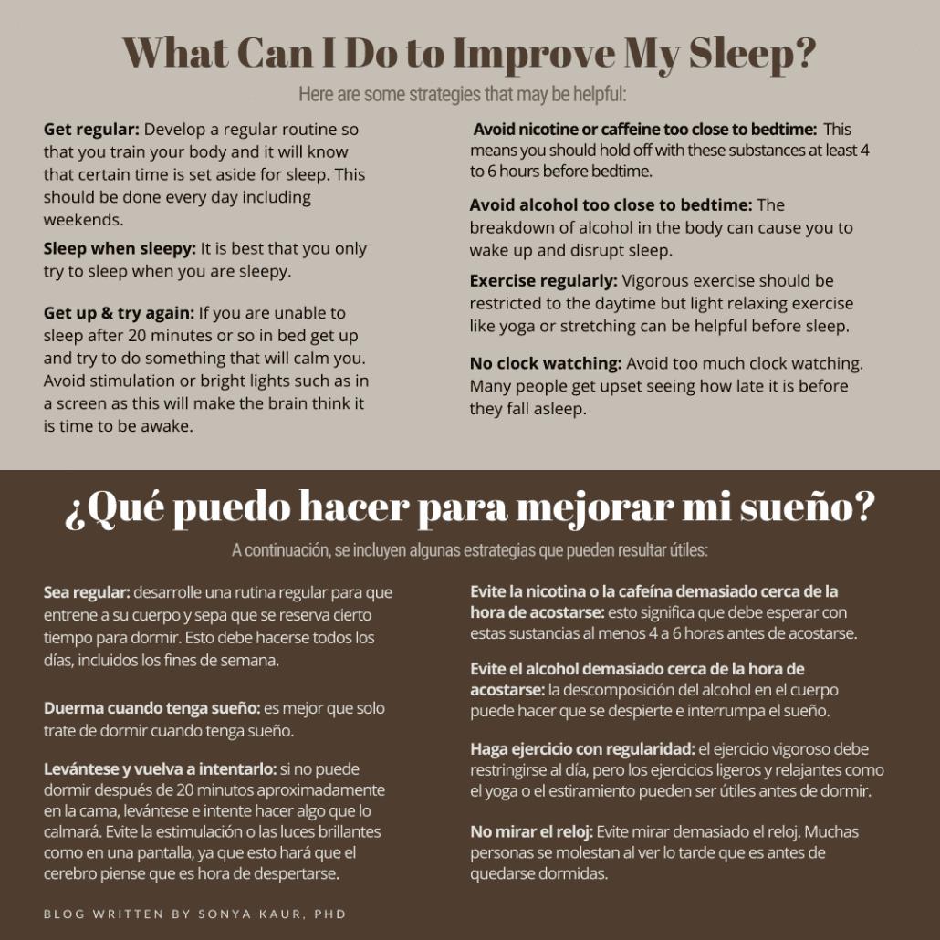 tips on better sleep